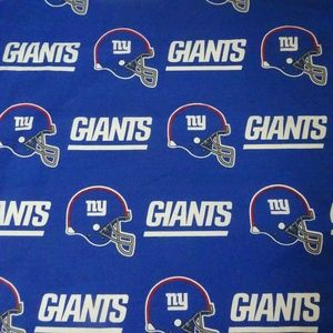 NFL New York Giants Football  Fabric 5' x9.5'